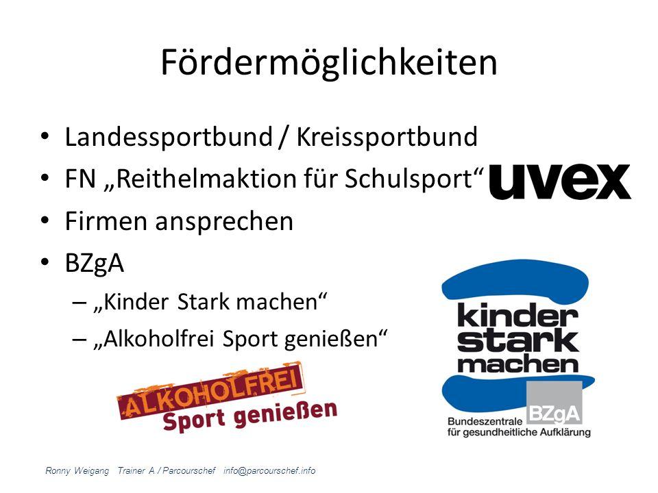Fördermöglichkeiten Landessportbund / Kreissportbund