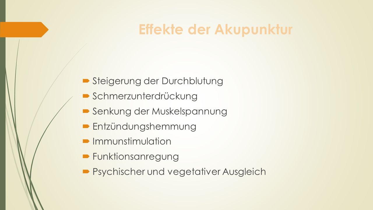 Effekte der Akupunktur