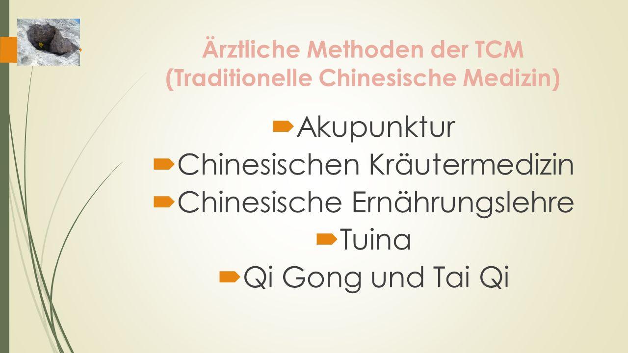 Ärztliche Methoden der TCM (Traditionelle Chinesische Medizin)