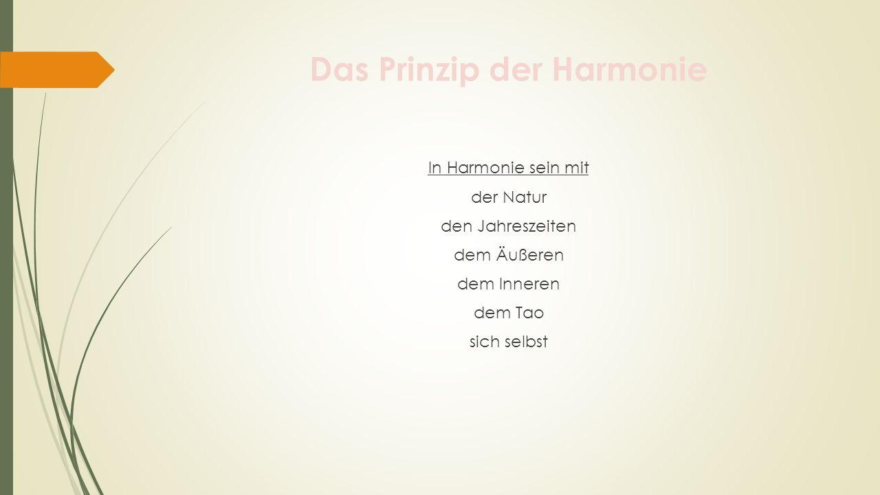 Das Prinzip der Harmonie