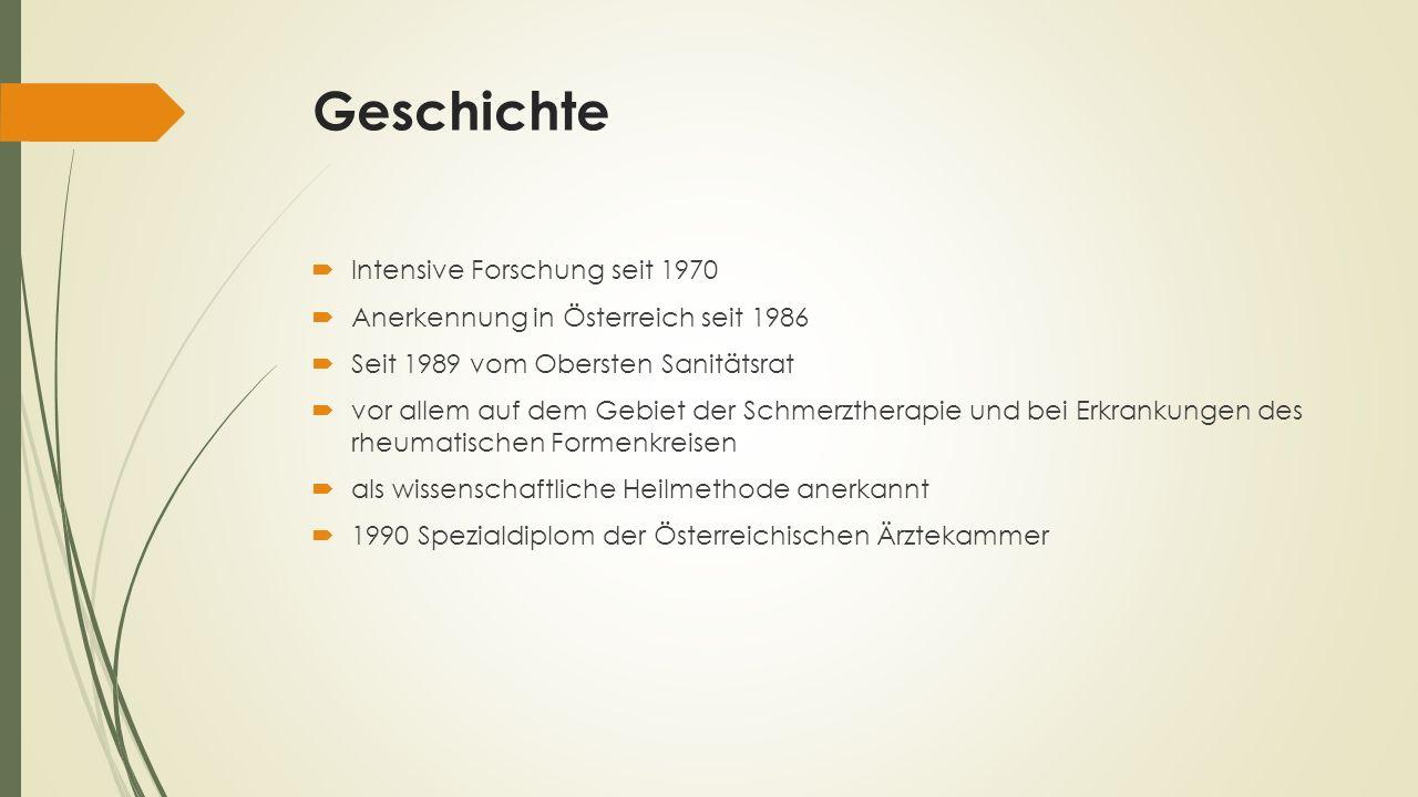 Geschichte Intensive Forschung seit 1970