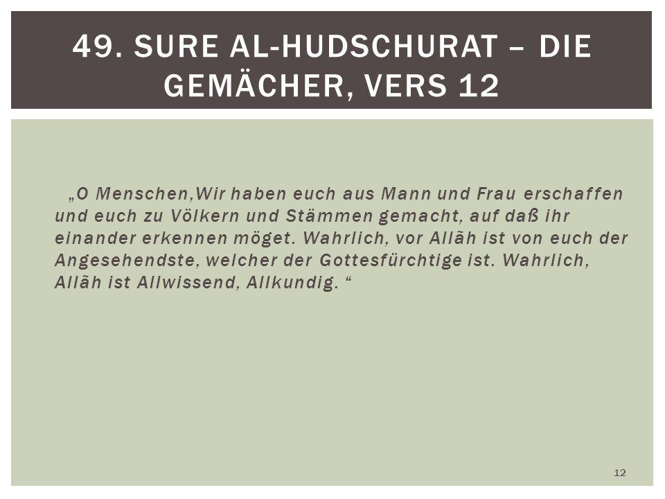 49. Sure al-Hudschurat – Die Gemächer, Vers 12