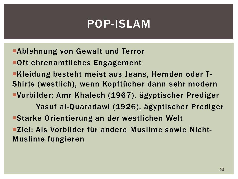 POP-ISLAM Ablehnung von Gewalt und Terror