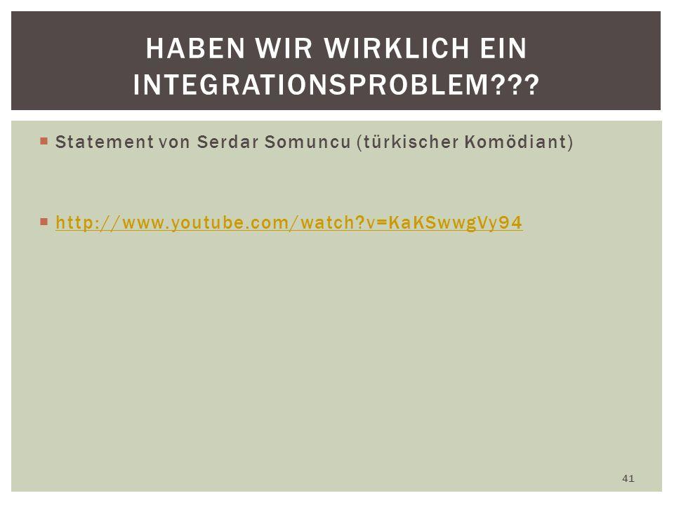 Haben wir wirklich ein Integrationsproblem