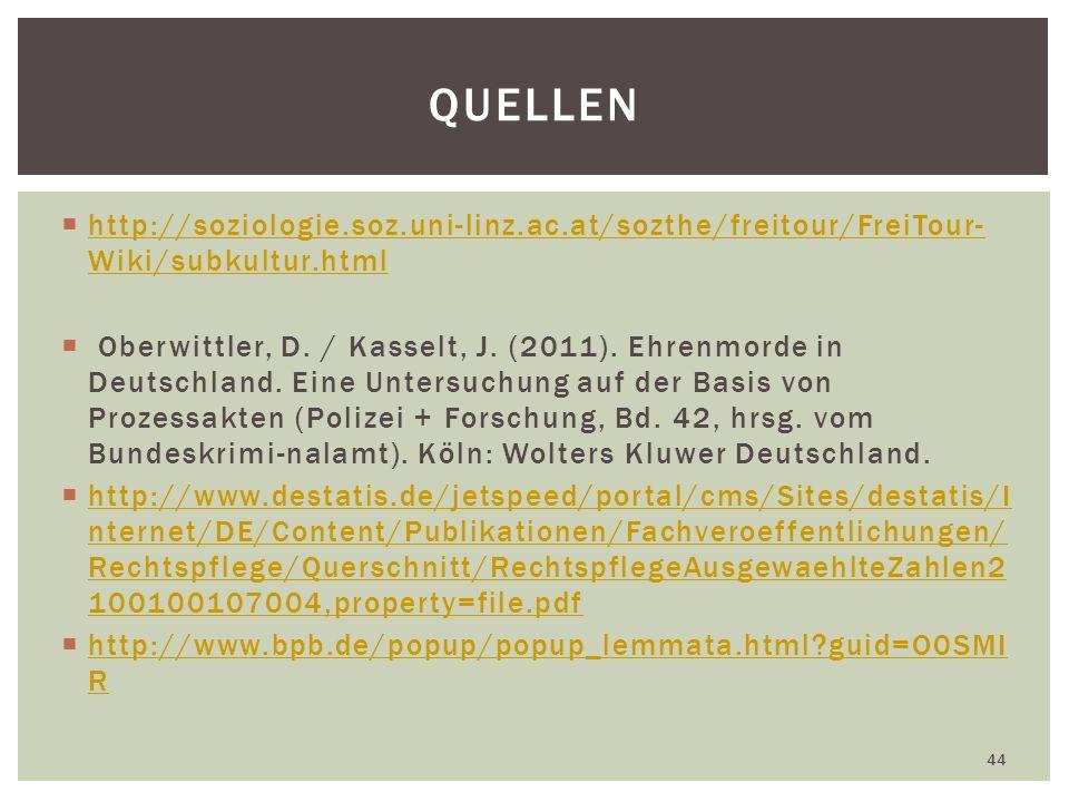 Quellen http://soziologie.soz.uni-linz.ac.at/sozthe/freitour/FreiTour-Wiki/subkultur.html.