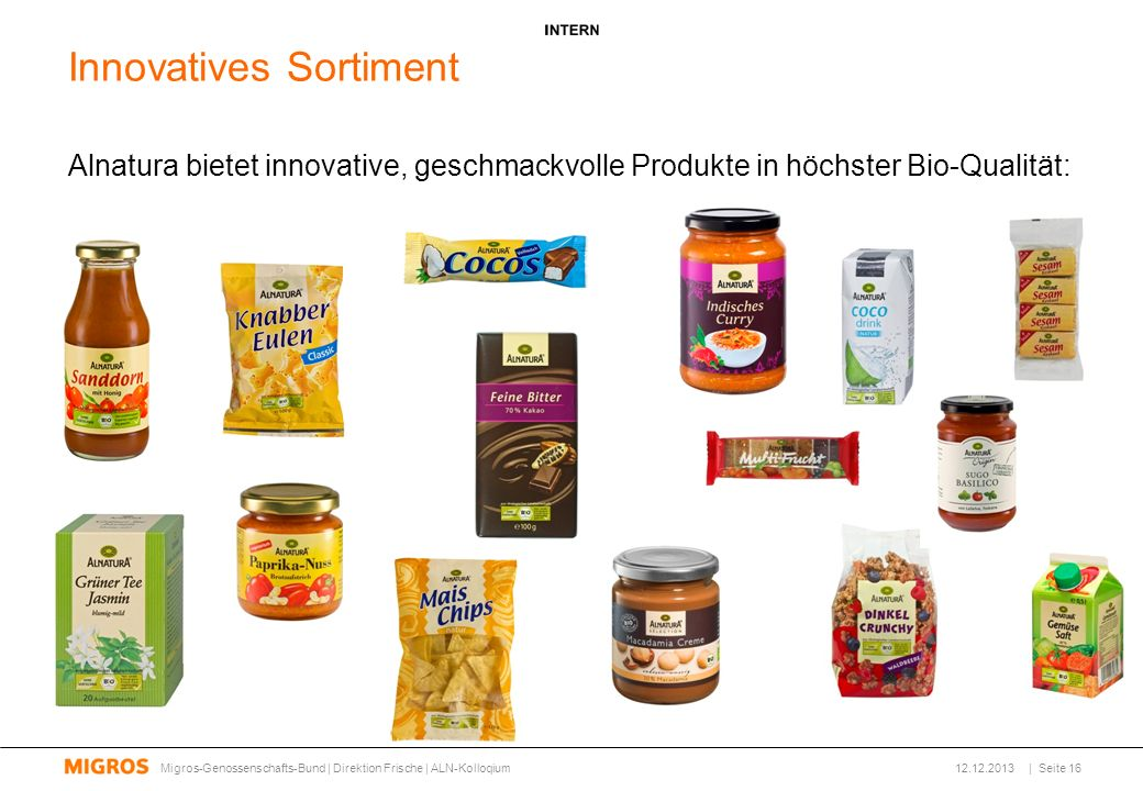 Innovatives Sortiment