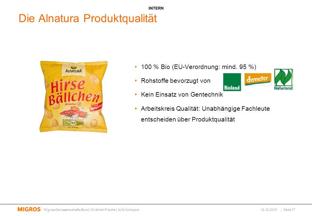 Die Alnatura Produktqualität