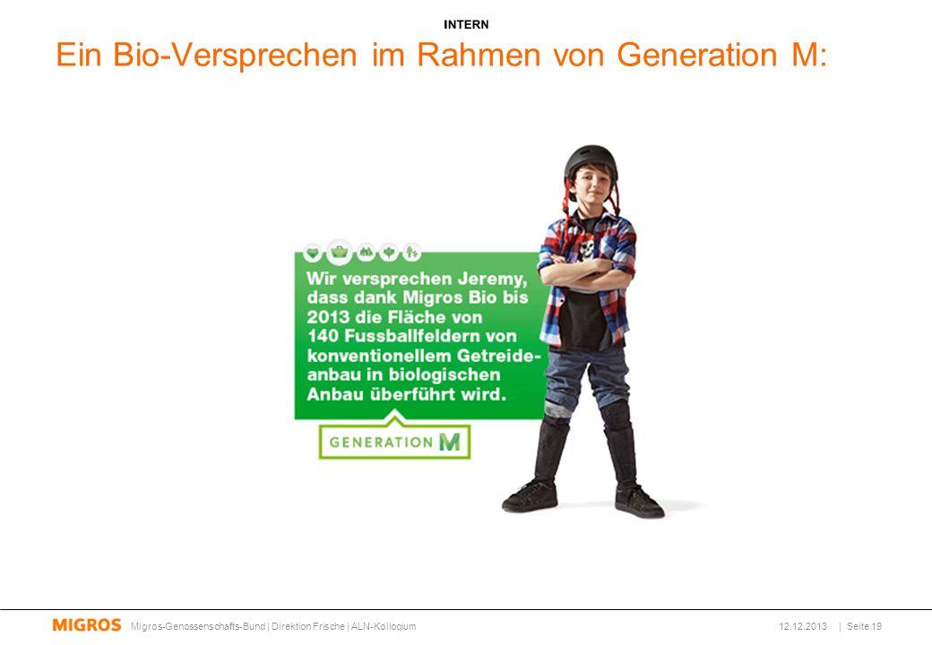 Ein Bio-Versprechen im Rahmen von Generation M: