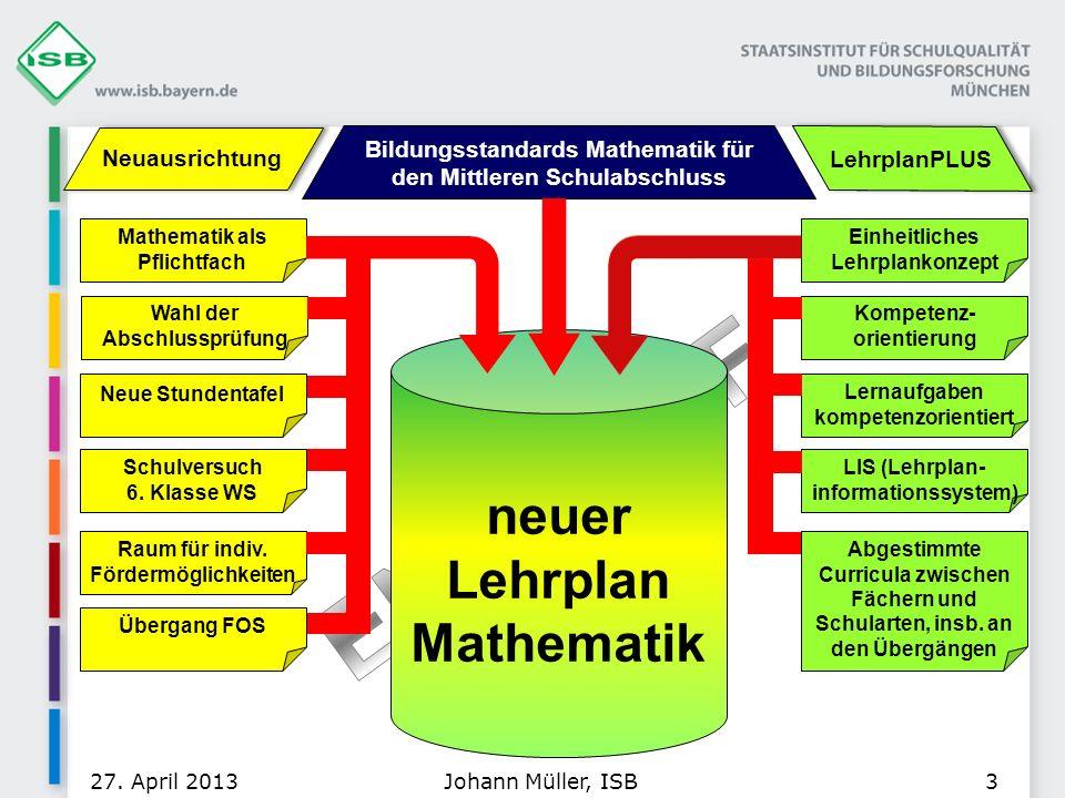 neuer Lehrplan Mathematik