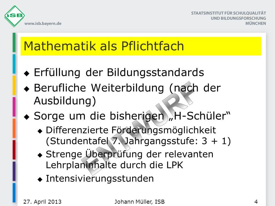 Mathematik als Pflichtfach