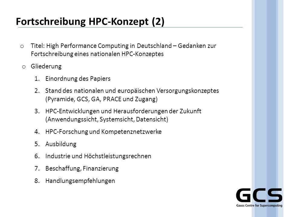 Fortschreibung HPC-Konzept (2)