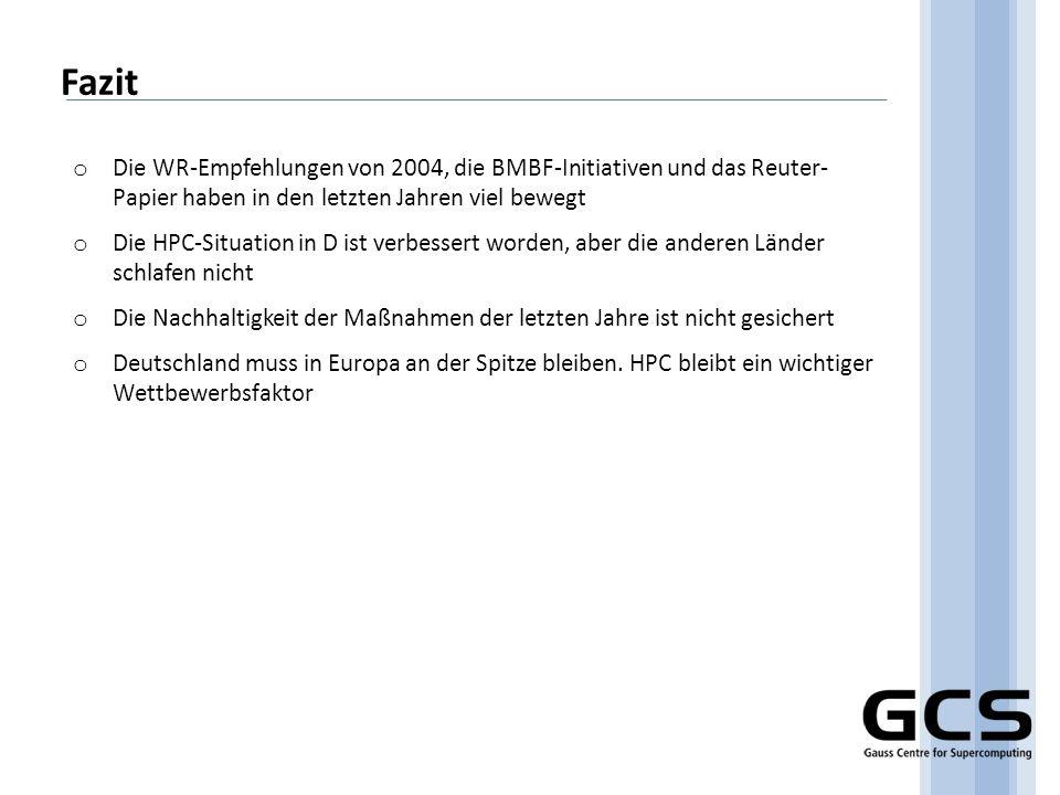 Fazit Die WR-Empfehlungen von 2004, die BMBF-Initiativen und das Reuter- Papier haben in den letzten Jahren viel bewegt.