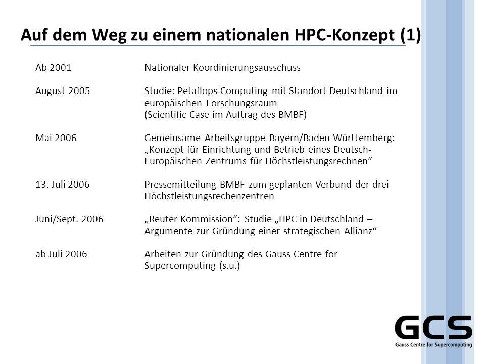 Auf dem Weg zu einem nationalen HPC-Konzept (1)