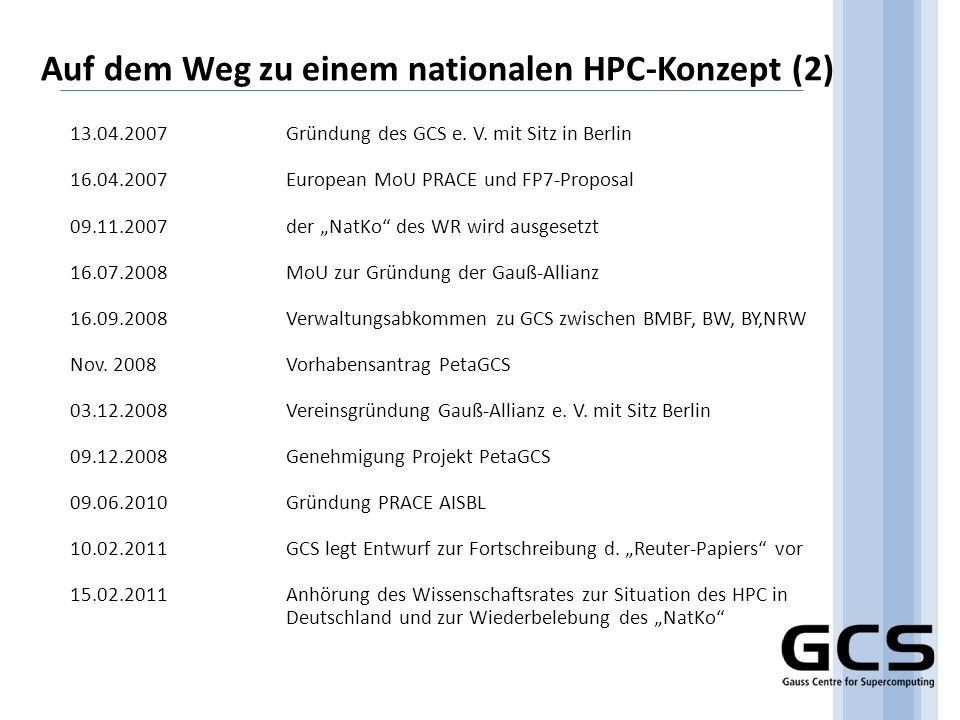 Auf dem Weg zu einem nationalen HPC-Konzept (2)