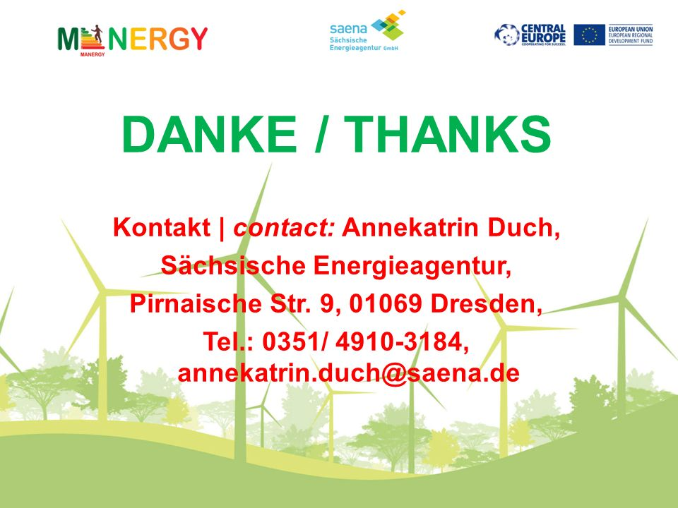 DANKE / THANKS Kontakt | contact: Annekatrin Duch,