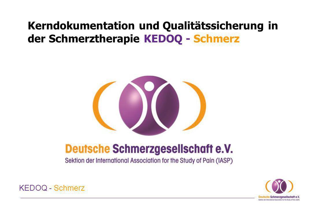 Kerndokumentation und Qualitätssicherung in der Schmerztherapie KEDOQ - Schmerz