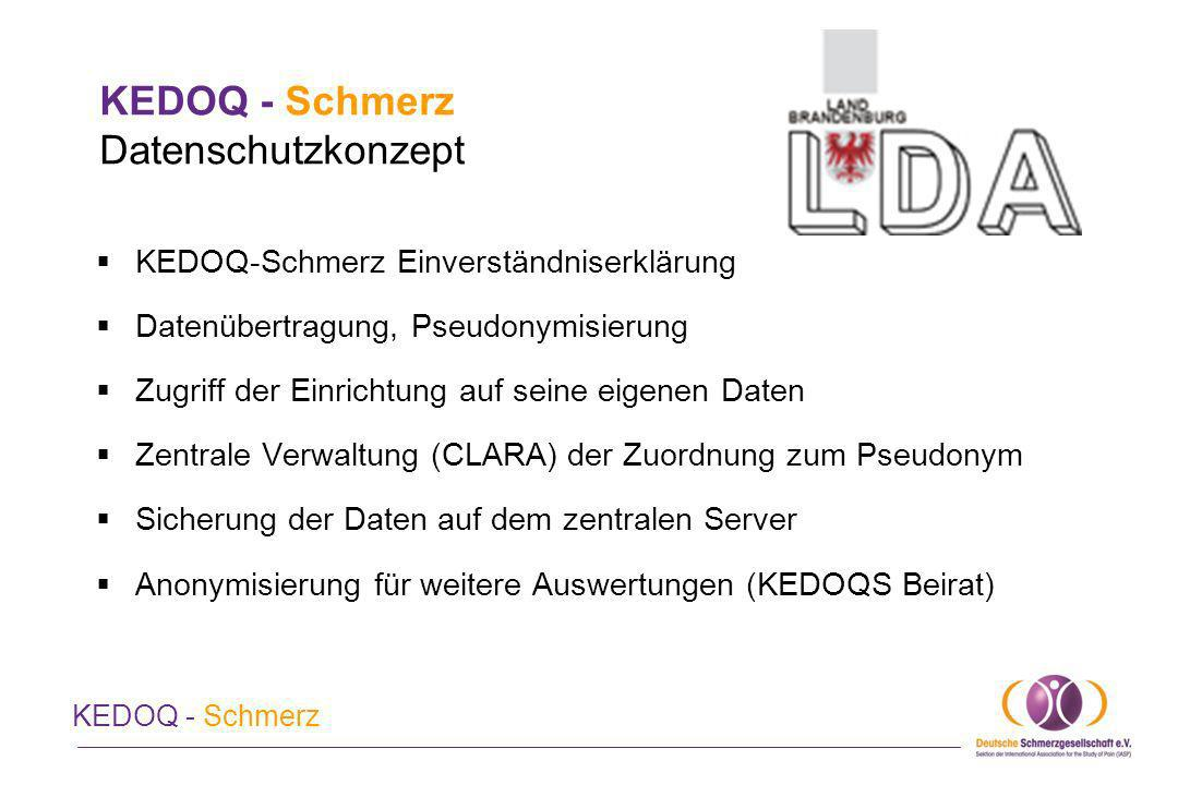 KEDOQ - Schmerz Datenschutzkonzept