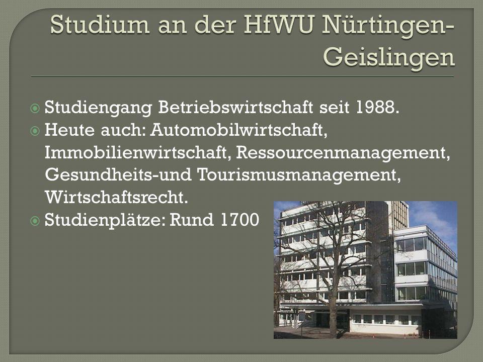 Studium an der HfWU Nürtingen-Geislingen