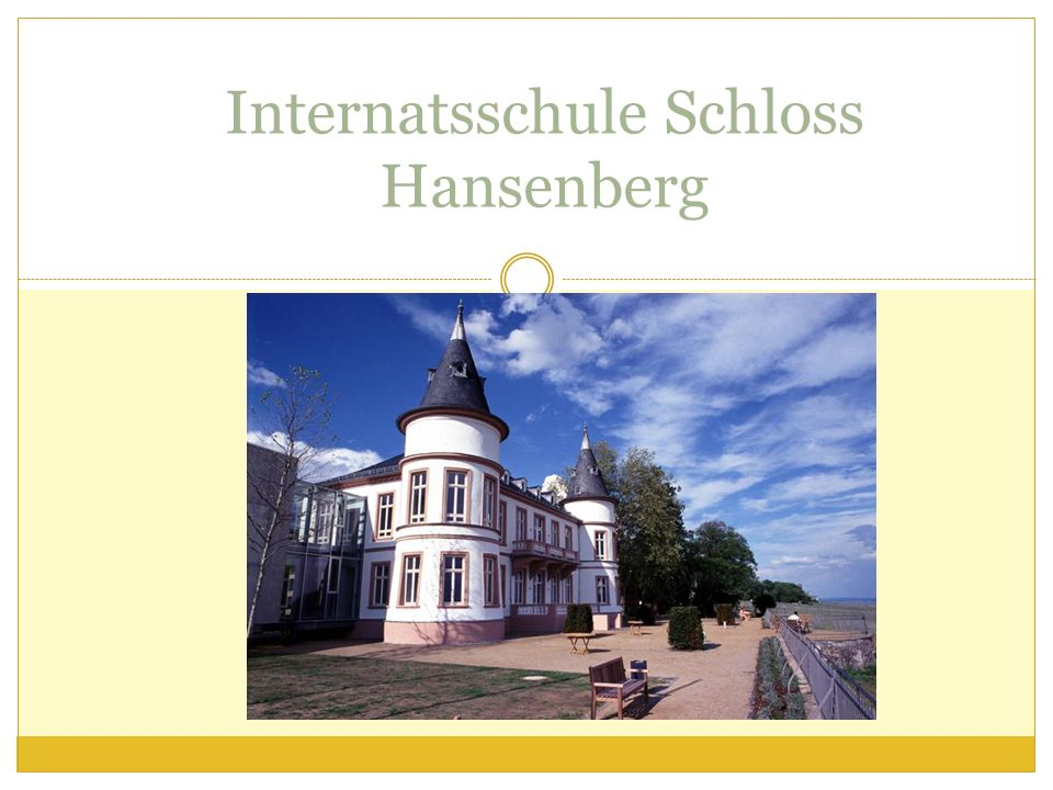 Internatsschule Schloss Hansenberg