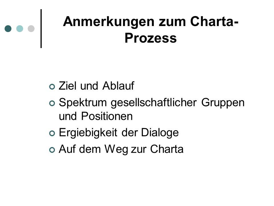Anmerkungen zum Charta-Prozess