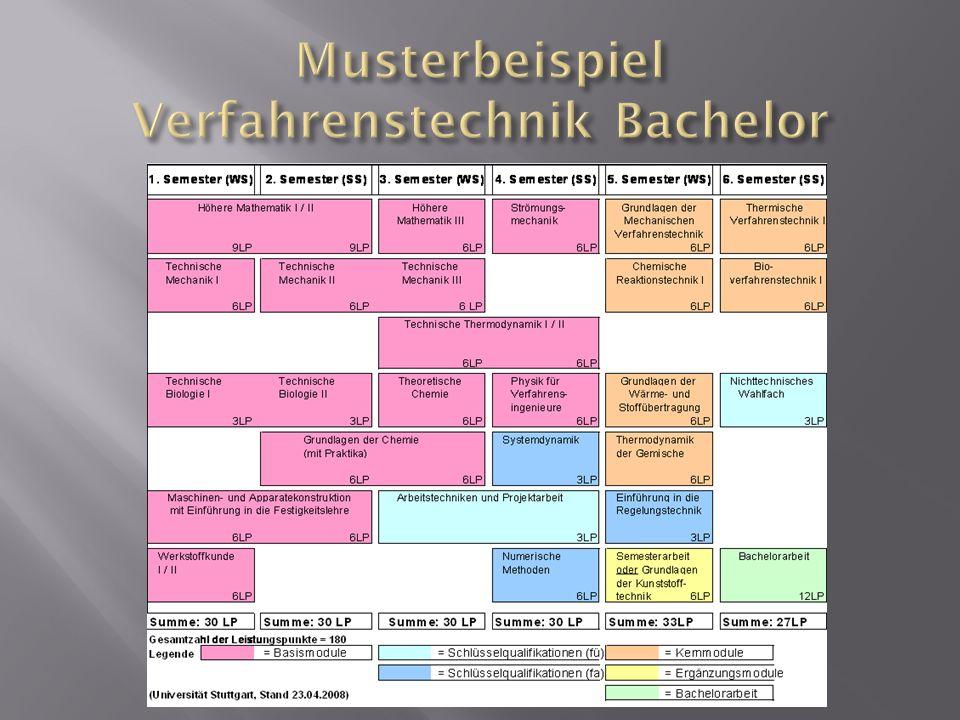 Musterbeispiel Verfahrenstechnik Bachelor