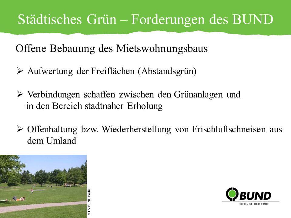 Städtisches Grün – Forderungen des BUND