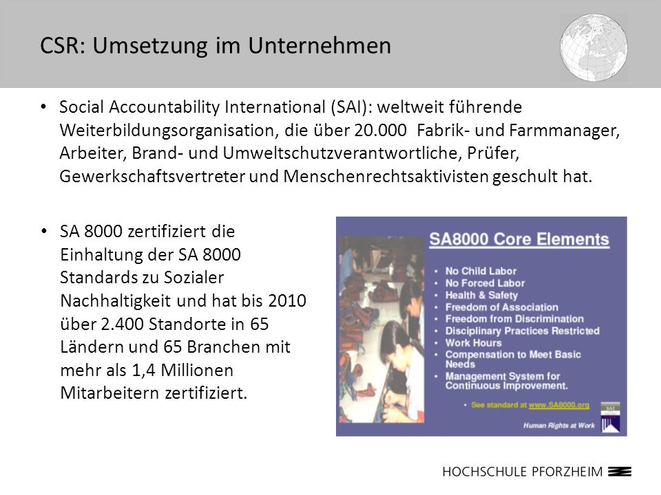 CSR: Umsetzung im Unternehmen