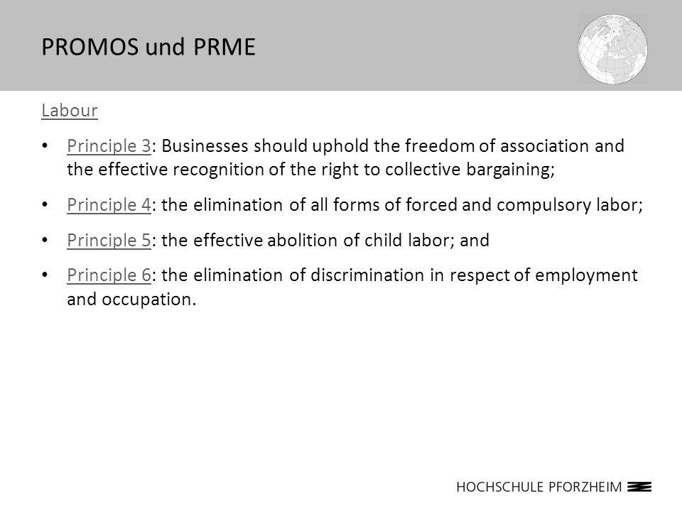 PROMOS und PRME Labour.