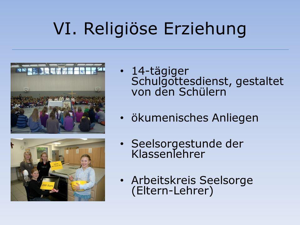 VI. Religiöse Erziehung