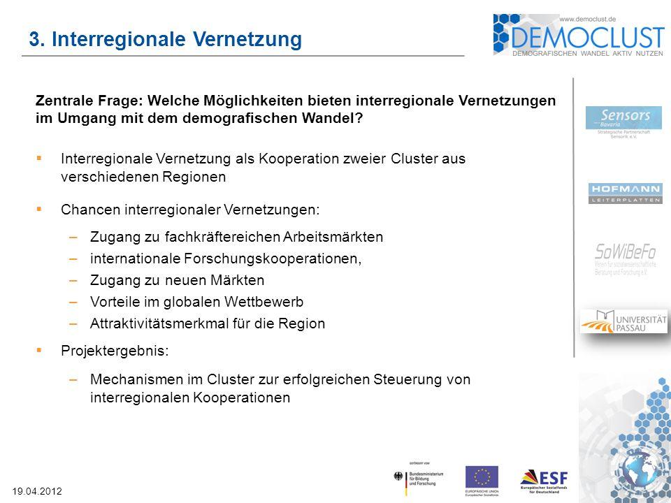 3. Interregionale Vernetzung