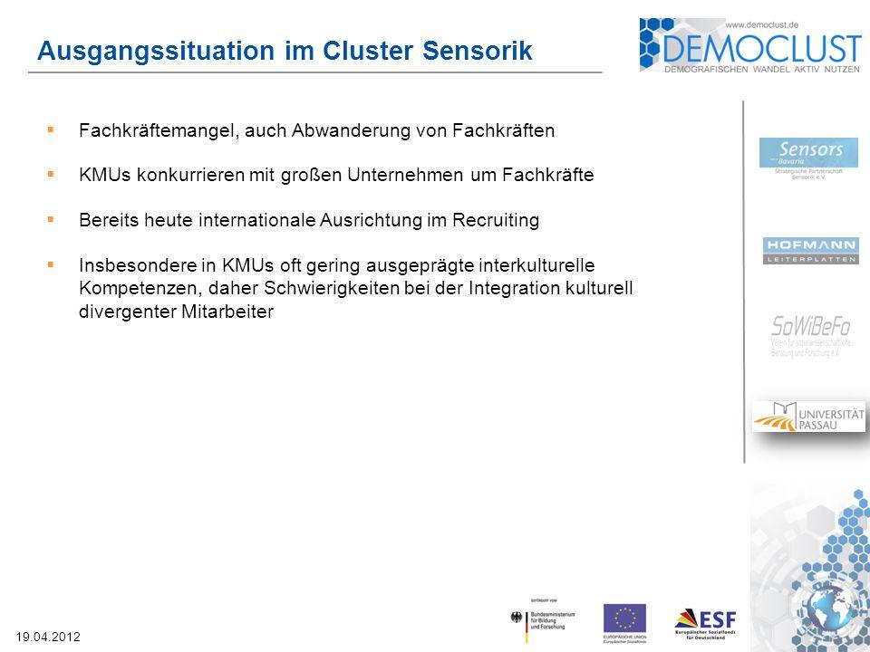 Ausgangssituation im Cluster Sensorik