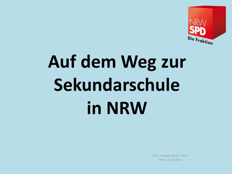 Auf dem Weg zur Sekundarschule in NRW