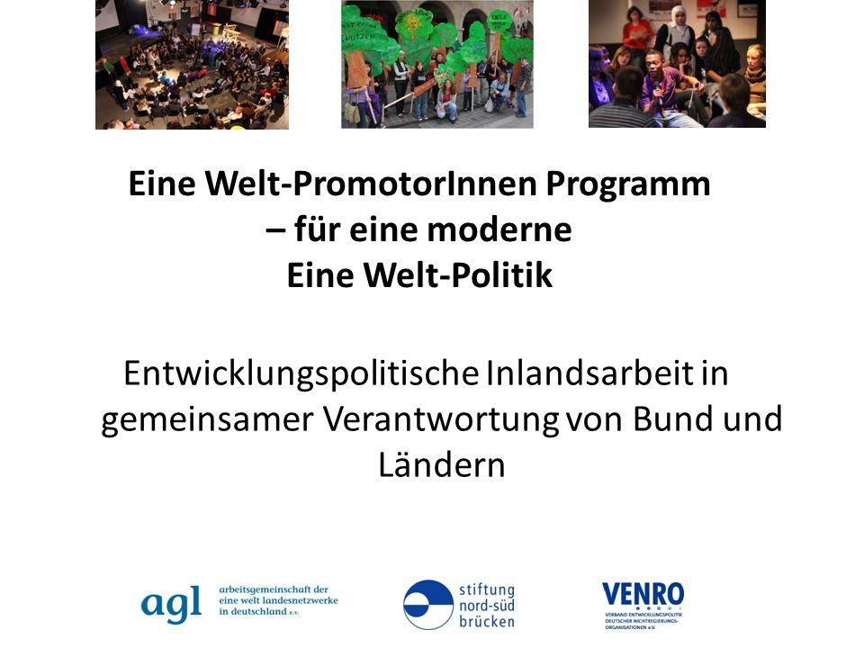 Eine Welt-PromotorInnen Programm – für eine moderne Eine Welt-Politik