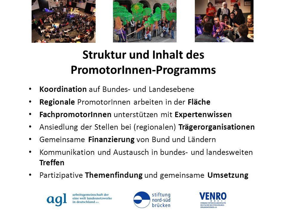 Struktur und Inhalt des PromotorInnen-Programms