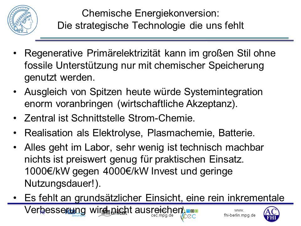 Chemische Energiekonversion: Die strategische Technologie die uns fehlt
