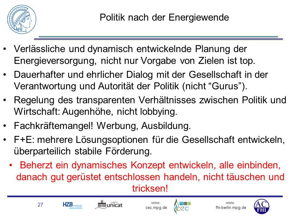 Politik nach der Energiewende