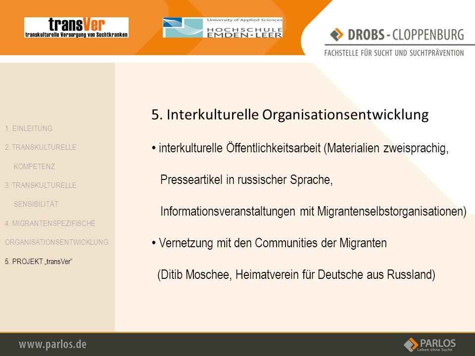5. Interkulturelle Organisationsentwicklung