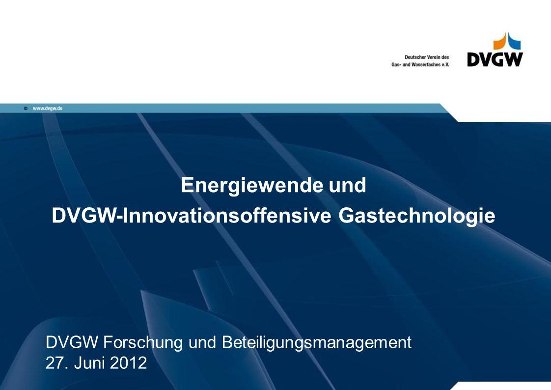 DVGW-Innovationsoffensive Gastechnologie