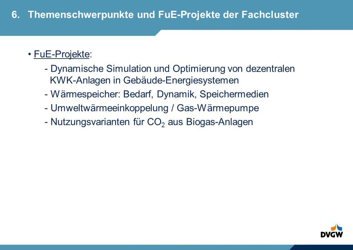 6. Themenschwerpunkte und FuE-Projekte der Fachcluster