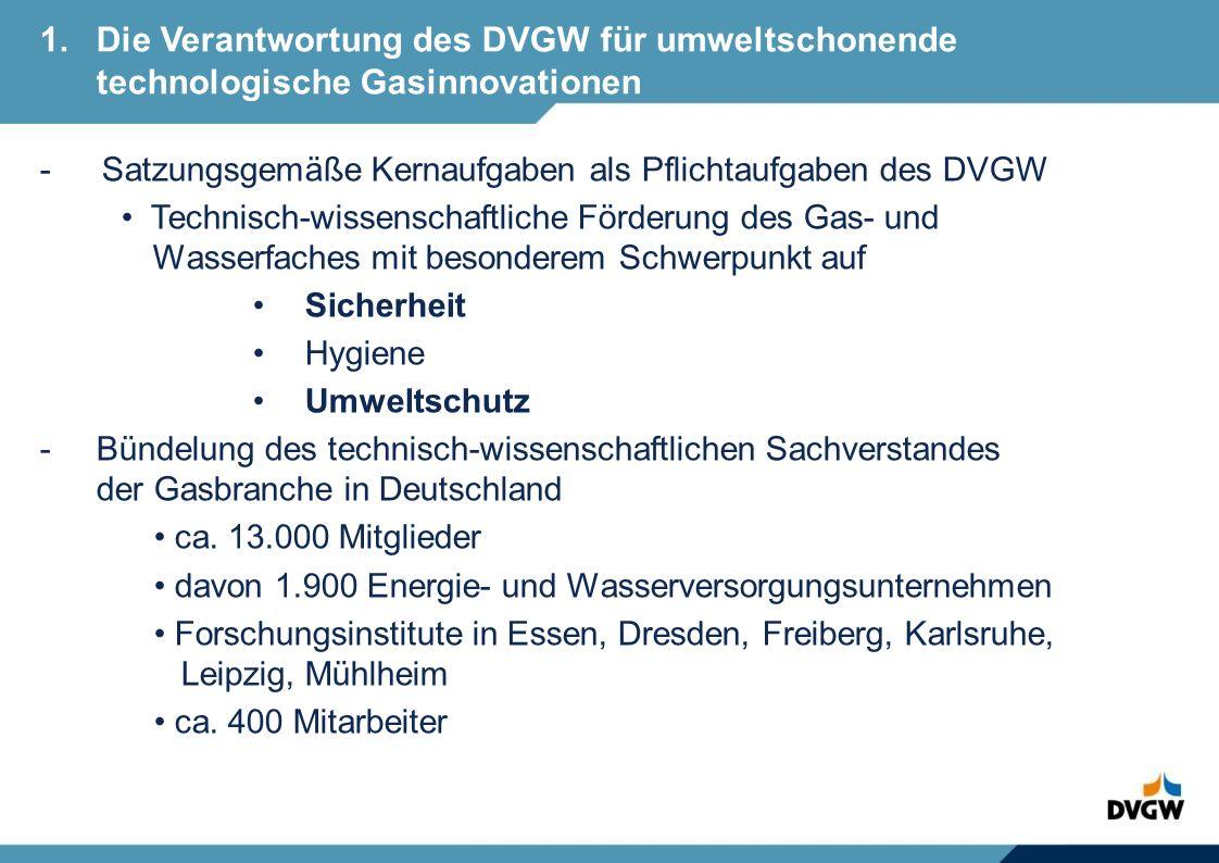 1. Die Verantwortung des DVGW für umweltschonende