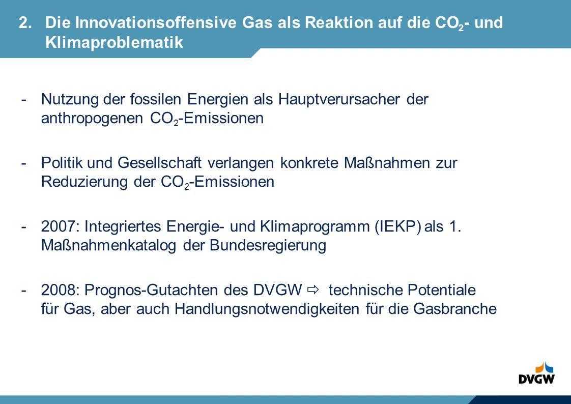 2. Die Innovationsoffensive Gas als Reaktion auf die CO2- und
