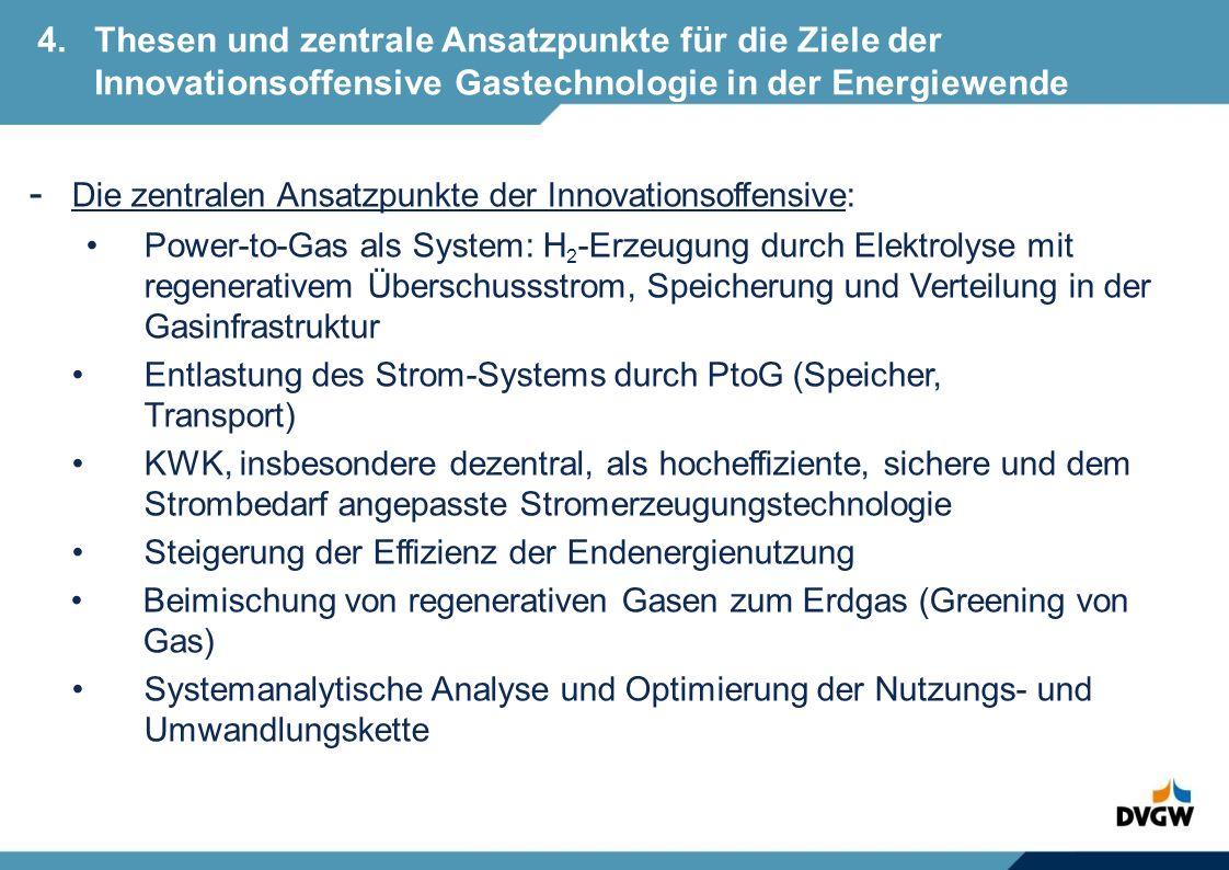 - Die zentralen Ansatzpunkte der Innovationsoffensive: