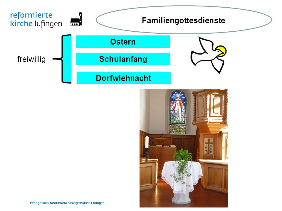 Ostern Schulanfang Dorfwiehnacht