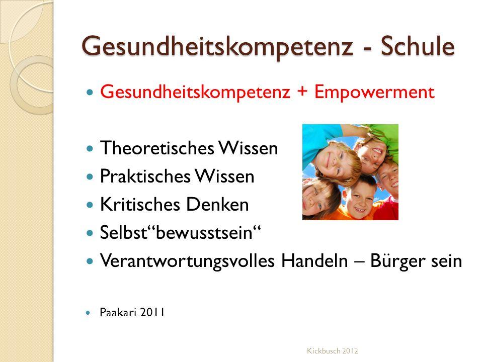 Gesundheitskompetenz - Schule