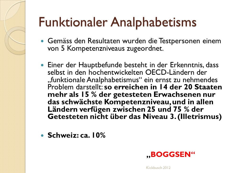 Funktionaler Analphabetisms