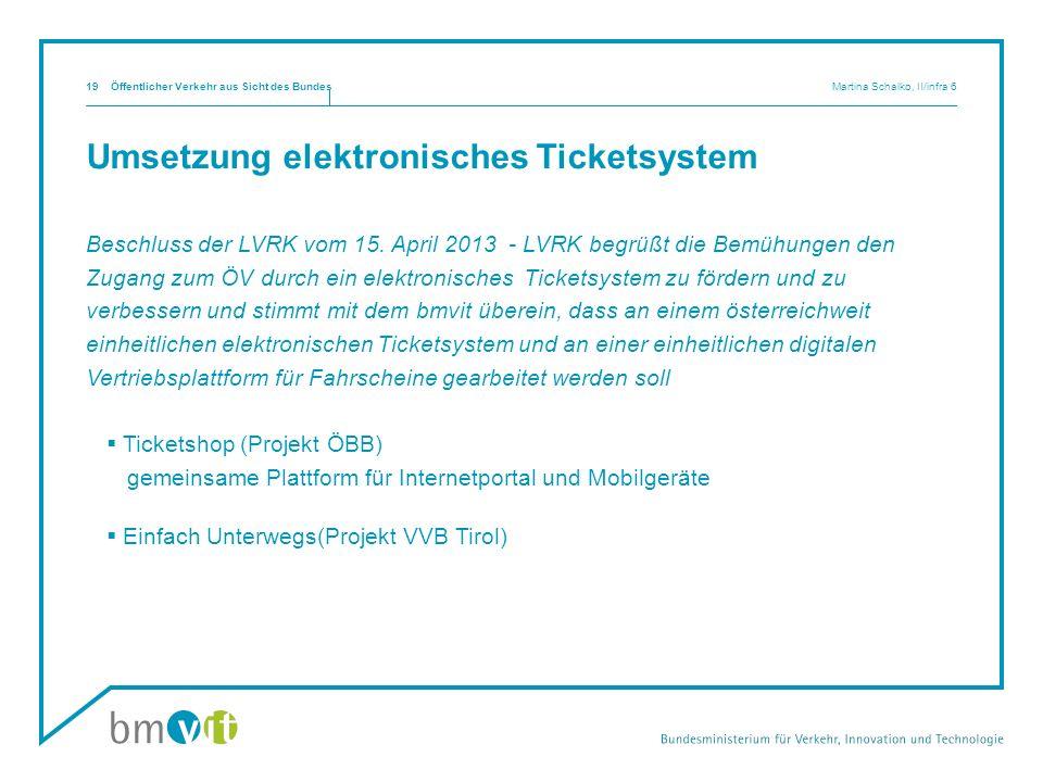 Umsetzung elektronisches Ticketsystem
