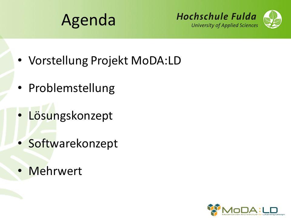Agenda Vorstellung Projekt MoDA:LD Problemstellung Lösungskonzept