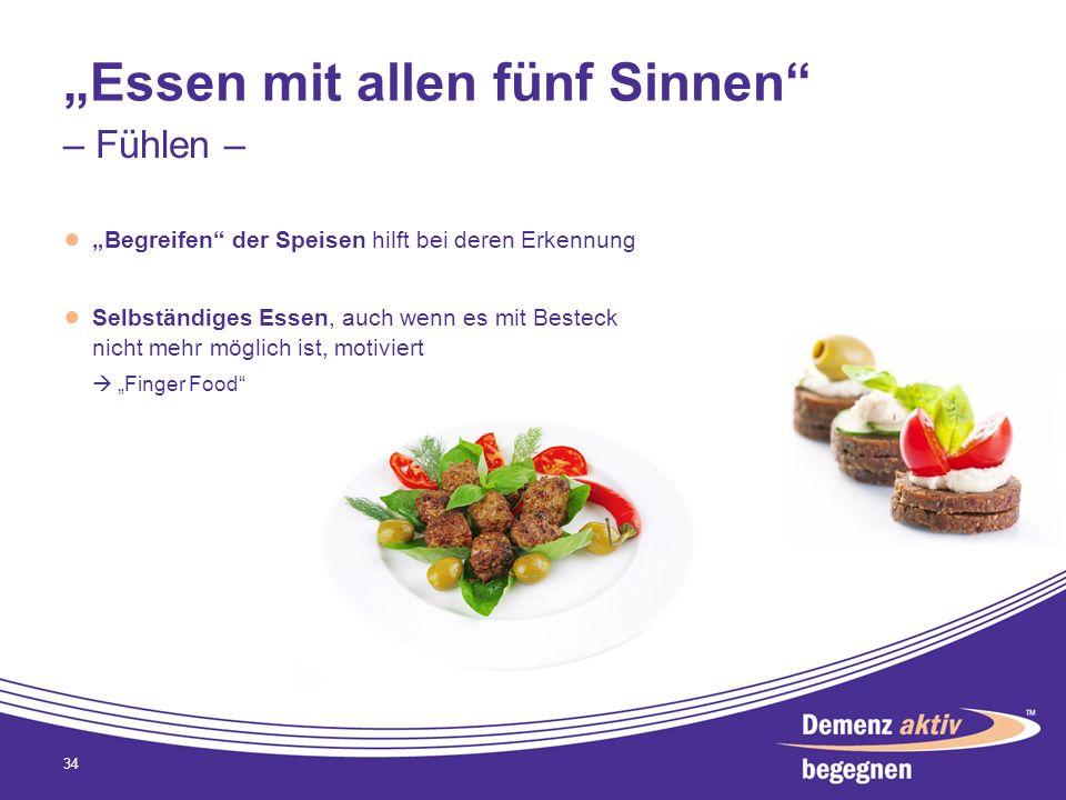 """""""Essen mit allen fünf Sinnen"""