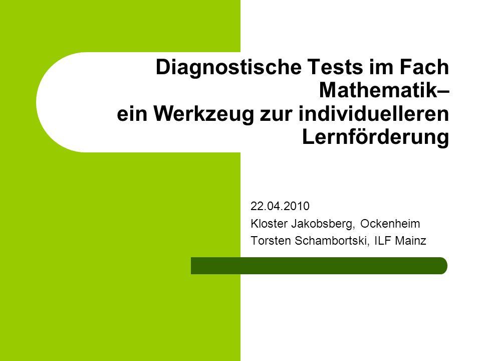 Diagnostische Tests im Fach Mathematik– ein Werkzeug zur individuelleren Lernförderung