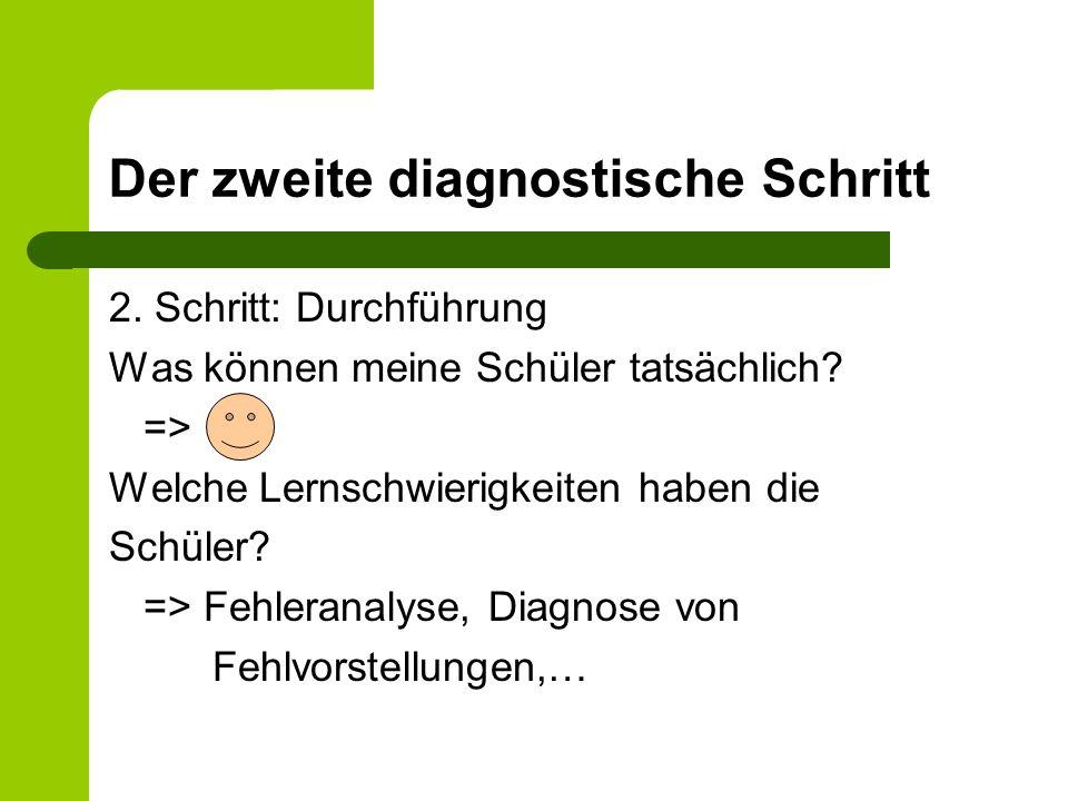 Der zweite diagnostische Schritt